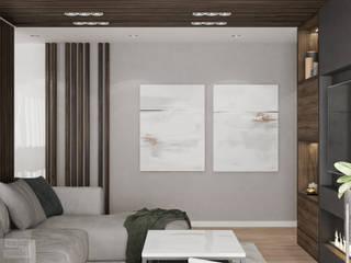 Miszkanie w Krakowie połączone z dwóch małych : styl , w kategorii Salon zaprojektowany przez LINEUP STUDIO