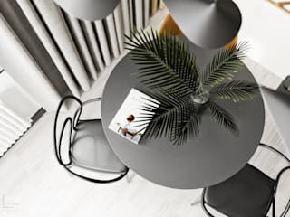 Projekt mieszkania w Krakowie: styl , w kategorii Jadalnia zaprojektowany przez LINEUP STUDIO