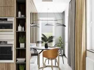 Projekt mieszkania w Krakowie: styl , w kategorii Kuchnia zaprojektowany przez LINEUP STUDIO