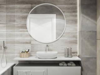 Mieszkanie w Krakowie : styl , w kategorii Łazienka zaprojektowany przez LINEUP STUDIO