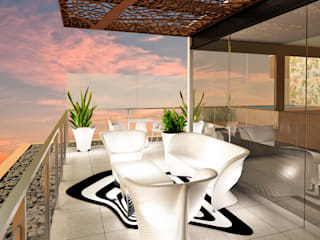 Terrace by Luis Escobar Interiorismo, Modern