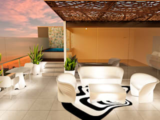 Modern style balcony, porch & terrace by Luis Escobar Interiorismo Modern