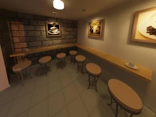 Caféteria mukhtalif Espacios comerciales de estilo rústico de WiiW BIM Rústico