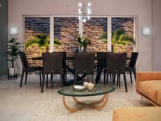 Casa GE Tlaxcala Comedores modernos de Estévez Arquitectos Moderno