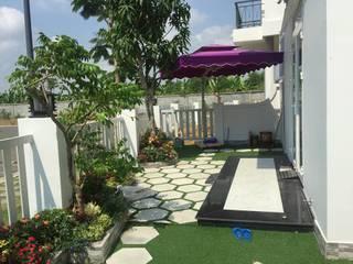 Sân trước:  Vườn by Công ty TNHH Thiết Kế Xây Dựng Song Phát