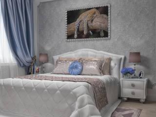 Квартира в классическом стиле с элементами ар-деко, площадью 73,3 кв.м. Спальня в классическом стиле от Елена Алексеева Классический