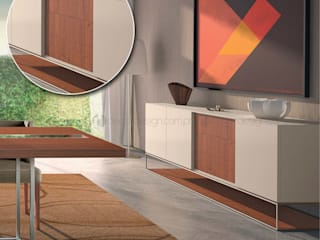 Decordesign Interiores Dining roomDressers & sideboards Chipboard Wood effect