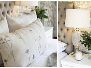 Country Inspired Master Bedroom Classic style bedroom by Joseph Avnon Interiors Classic