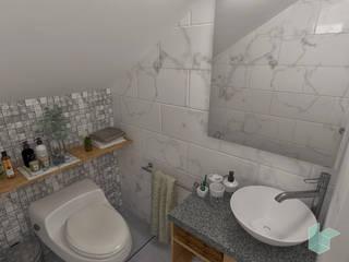Arquitectura de interiores en vivienda en SMP: Baños de estilo  por LS Arquitectura, diseño y acústica