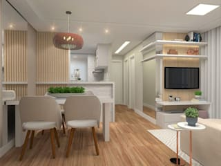 Dining room by Patricia Picelli Arquitetura e Interiores