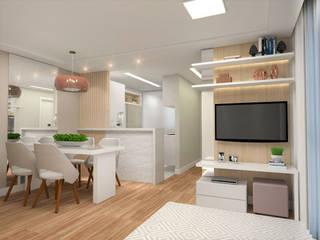 Living room by Patricia Picelli Arquitetura e Interiores