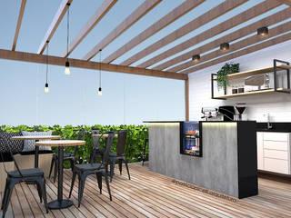 Balcony by Patricia Picelli Arquitetura e Interiores