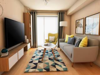 Scandinavian style living room by NF Diseño de Interiores Scandinavian