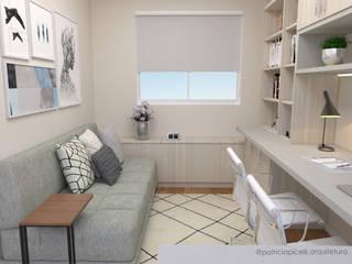 Study/office by Patricia Picelli Arquitetura e Interiores