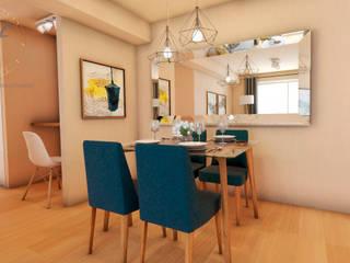 Scandinavian style dining room by NF Diseño de Interiores Scandinavian