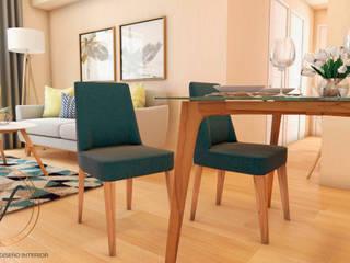 PROYECTO EXCELLENCE Comedores de estilo escandinavo de NF Diseño de Interiores Escandinavo