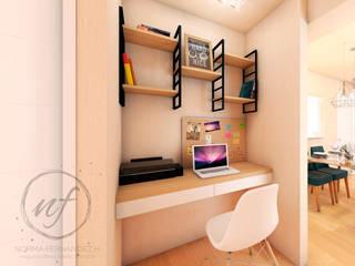 PROYECTO EXCELLENCE - ESTUDIO Estudios y despachos de estilo moderno de NF Diseño de Interiores Moderno