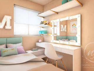Habitaciones pequeñas de estilo  por NF Diseño de Interiores ,