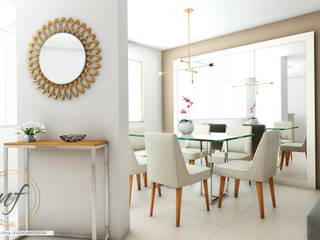 PROYECTO RESIDENCIAL ANIA Comedores de estilo moderno de NF Diseño de Interiores Moderno