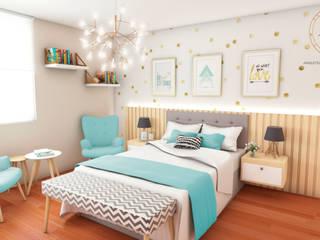 Scandinavian style bedroom by NF Diseño de Interiores Scandinavian