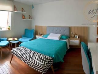 Dormitorios escandinavos de NF Diseño de Interiores Escandinavo