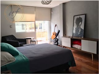 PROYECTO RESIDENCIAL - JOVEN Dormitorios industriales de NF Diseño de Interiores Industrial