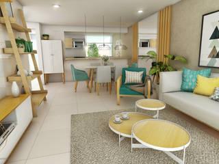 Salones modernos de NF Diseño de Interiores Moderno