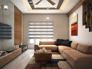 Interior designers in Kochi, Kerala Classic style living room by Monnaie Architects & Interiors Classic