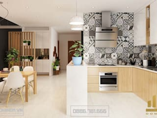 Thiết kế nội thất chung cư Sunsquare - nhà chị Quỳnh bởi Thiết kế - Nội thất - Dominer