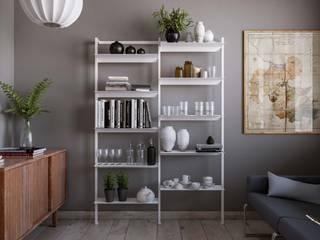 Damiano Latini srl Ruang Keluarga Minimalis Aluminium/Seng White