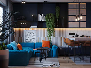 Industrial style living room by Suiten7 Industrial
