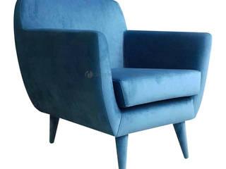 Decordesign Interiores SalasBancos y sillas Textil Azul
