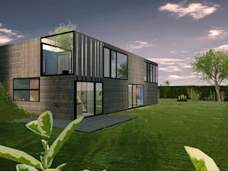 Dinges Design Single family home Wood Wood effect