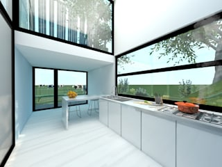 Dinges Design Modern kitchen Glass