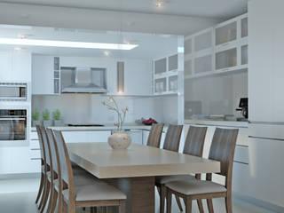 AOG CocinaAlmacenamiento y despensa Compuestos de madera y plástico Blanco