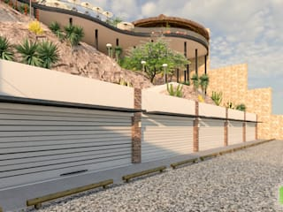El Zarandeado de Villa Juarez Paredes y pisos de estilo moderno de Ag Arquitectos Moderno