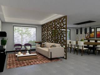 Residencia Cigarroa Salones minimalistas de Ag Arquitectos Minimalista