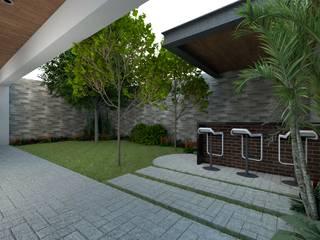 Residencia Cigarroa Jardines minimalistas de Ag Arquitectos Minimalista