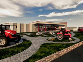 Agencia Matriz y CIA Massey Ferguson Casas industriales de Ag Arquitectos Industrial