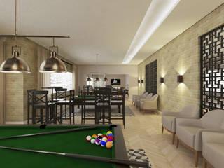 Sala de jogos :   por Bruna Schumacher - Arquitetura & Interiores
