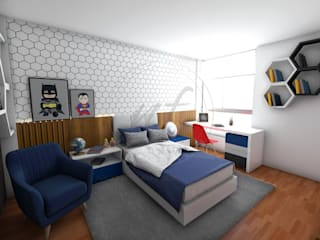 Modern style bedroom by NF Diseño de Interiores Modern