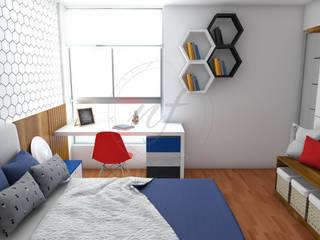 Dormitorios modernos de NF Diseño de Interiores Moderno