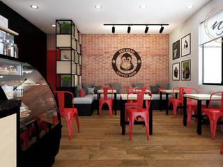 Industrial style gastronomy by NF Diseño de Interiores Industrial
