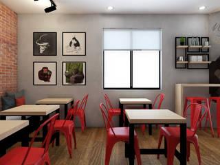 PROYECTO CAFETERIA RED HEAD COFFEE SHOP de NF Diseño de Interiores Industrial