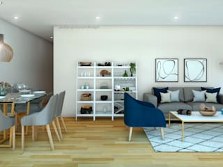 Modern living room by NF Diseño de Interiores Modern