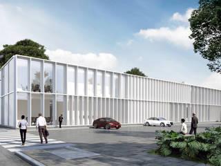 Laboratorio XX Lager Clínicas y consultorios médicos de estilo moderno de OTRA ARQUITECTURA S.C. Moderno