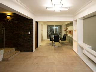 Pasillos, vestíbulos y escaleras de estilo minimalista de Luis Barberis Arquitectos Minimalista