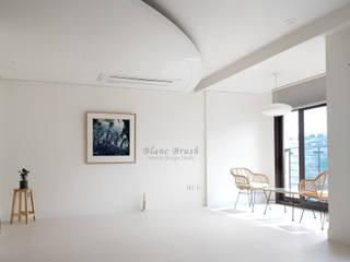 블랑브러쉬 Moderne woonkamers