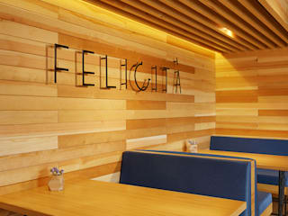 FELICITA' city cafe Bar & Club in stile minimalista di YUDIN Design Minimalista