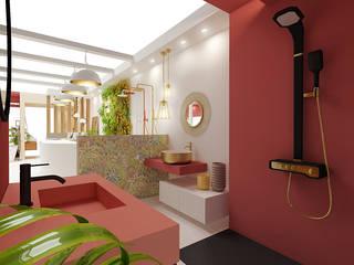 Smile Bath S.A. Baños de estilo moderno Rojo